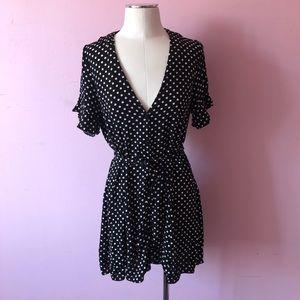 Black and white Zara polkadot dress